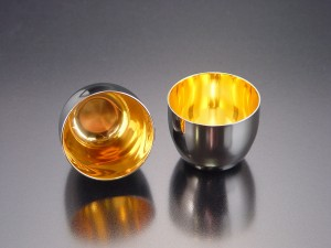 Large sake cup(24-carat gold)