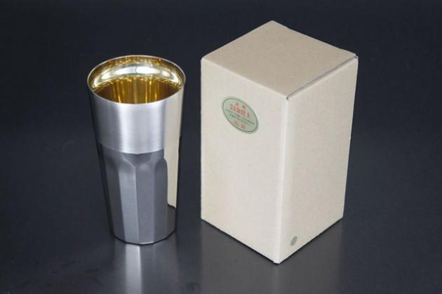 Silky tumbler L (24-carat gold)